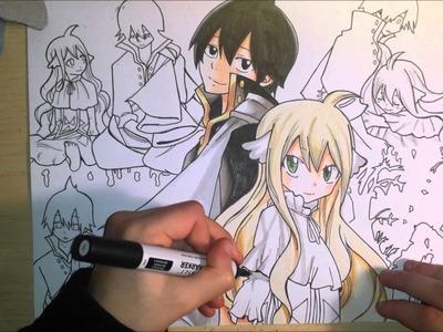 Speed drawing - Fairy Tail (Zeref & Mavis)