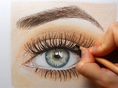 Timelapse | Drawing an eye with colored pencils | Emmy Kalia
