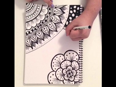 Zentangle Doodle Art ~ Fast Motion Speed Drawing ~