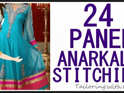 24 Panel Anarkali Stitching   DIY - Tailoring With Usha