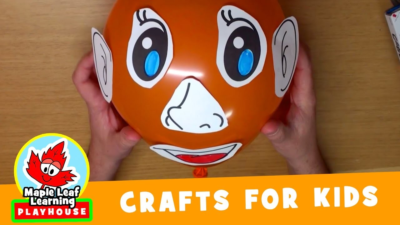 Balloon Face Craft for Kids   Maple Leaf Learning Playhouse
