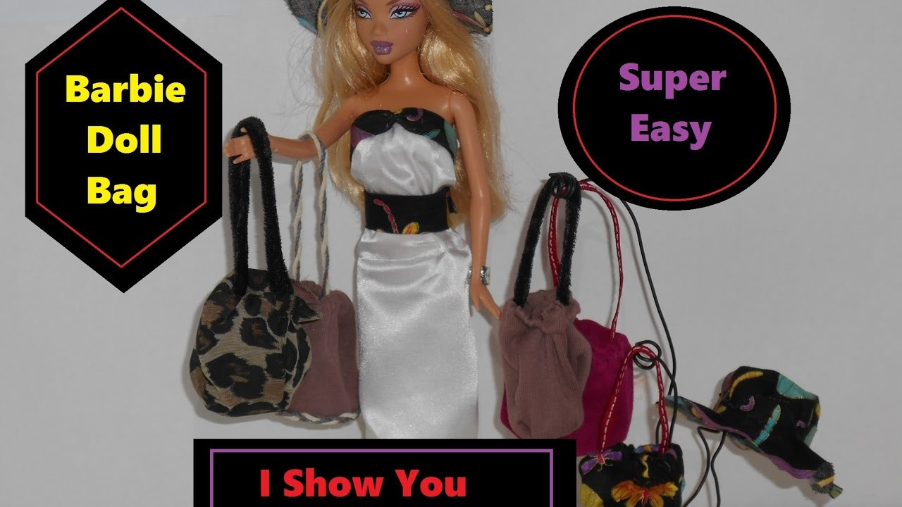 "(""#Barbie Doll Bag. Super Easy to Make. I Show you How"");"