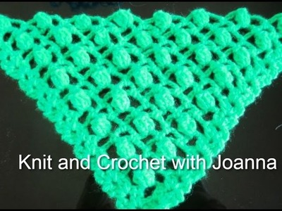 Crochet Pattern*EASY POPCORN STITCH FOR A SHAWL *