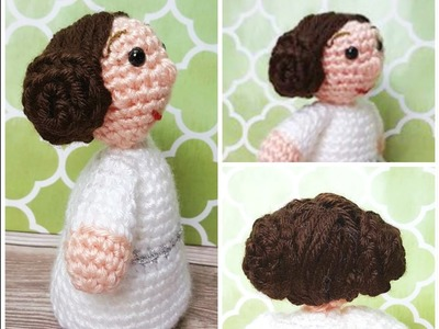 Crochet Princess Leia inspired Ami Doll  (Video 4 Final Video )
