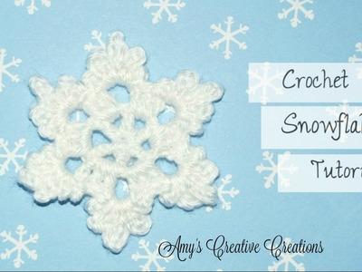 Crochet Snowflake Tutorial