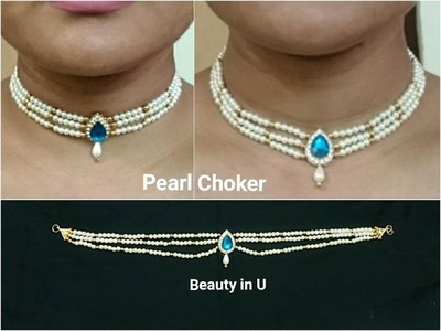 DIY | Bridal Necklace | Making of Pearl Choker at Home | Tutorial