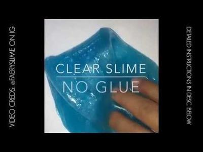 DIY Clear Slime Tutorial! ~ No Glue! ~ ASMR Noises