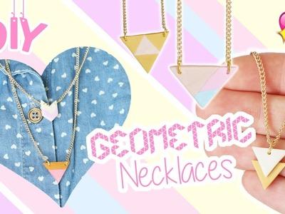 DIY Geometric Necklace Pendants│Polymer Clay Tutorial