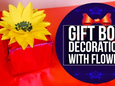 Diy Gift Box Flower Decoration | Easy To Make Paper Flowers - Craft Basket