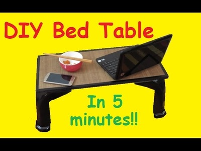 DIY How to make bed table in 5 minutes!