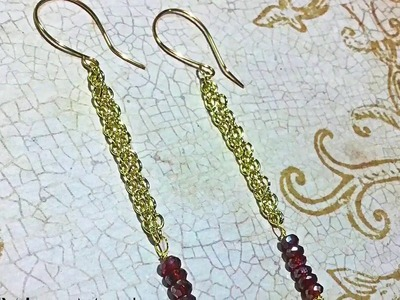 DIY Linear Minimalist Chain Tassel Earrings by Denise Mathew