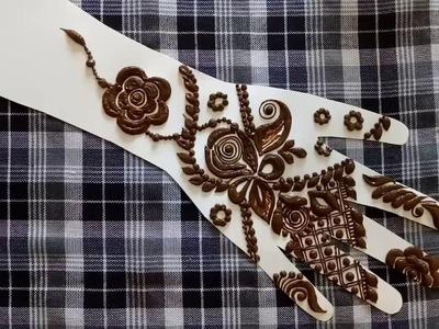 DIY | new Floral henna design for hands 2016