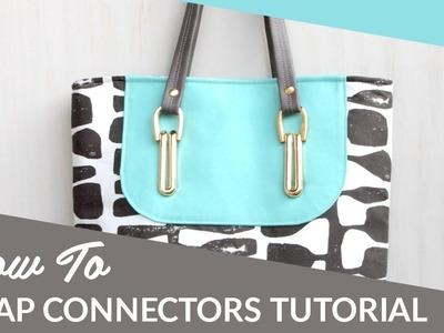 DIY Purse Strap Connectors Tutorial by Sallie Tomato