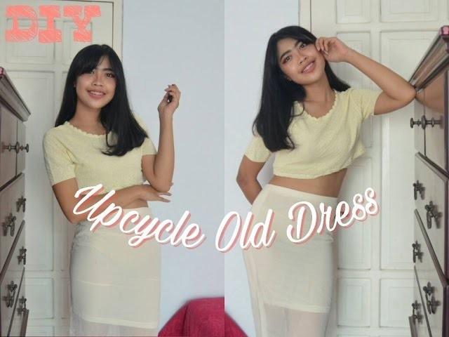 DIY Sew ! Ways to upcycle old dress | bahasa | Aldilla Bintan