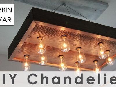 DIY String Light Chandelier for $40