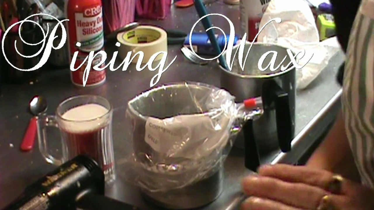 DIY Tutorial of piping candle wax
