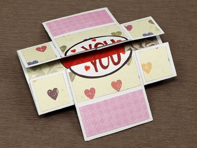 DIY Valentine Day Love Card - Never Ending (Endless) Valentine Card Step By Step