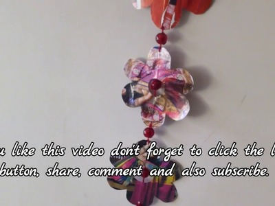 DIY wall decor idea. wealth out of waste. Recycled craft. English subtitles