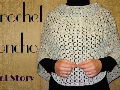 Easy DIY Crochet Poncho (Heklani Pončo)