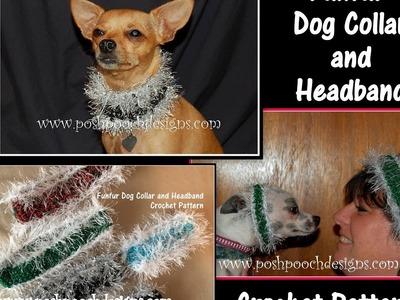 Funfur Dog Collar and Headband Crochet Pattern