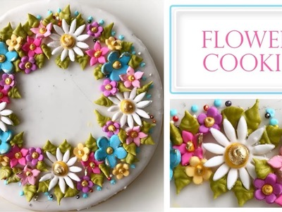 How to Decorate a Flower Cookie | Floral Plaque