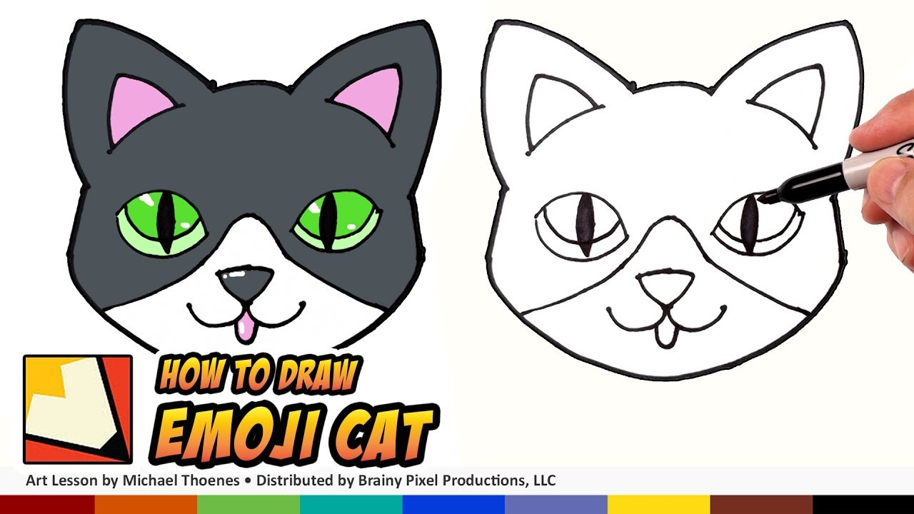 How to Draw a Cute Cat Emoji for Beginners Step by Step