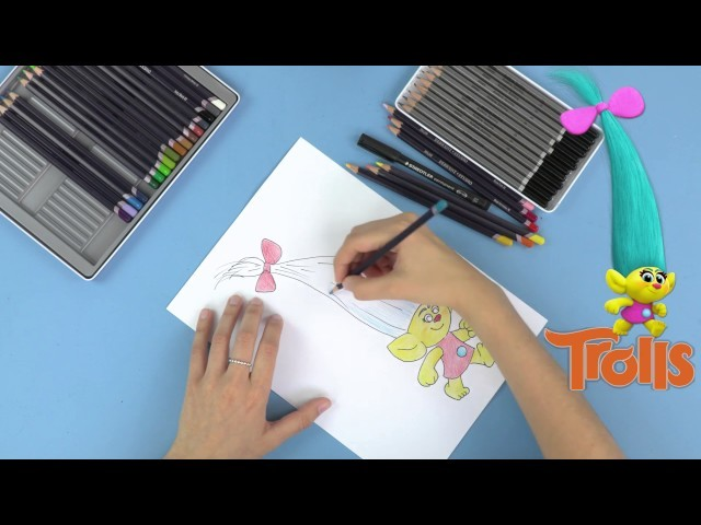 How to Draw and Colour Smidge from the Trolls Movie + MORE - Full Colour Song |