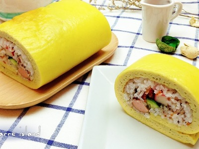 How to make a Reverse Sushi Egg Roll   d for delicious