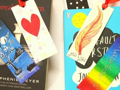How to make bookmarks easy DIY(Heart.Sticker.Rainbow.Night.others)