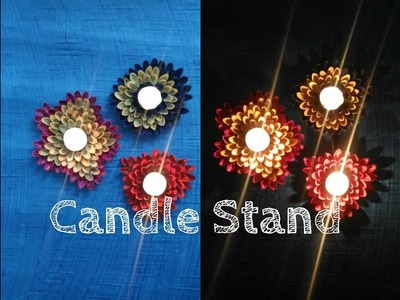 How to make candle stand using pista shells. ||Art n you-6||