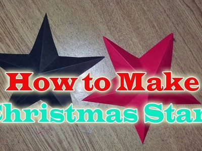 How to Make Christmas STAR With Paper | (Christmas Craft) | DIY Project Ideas