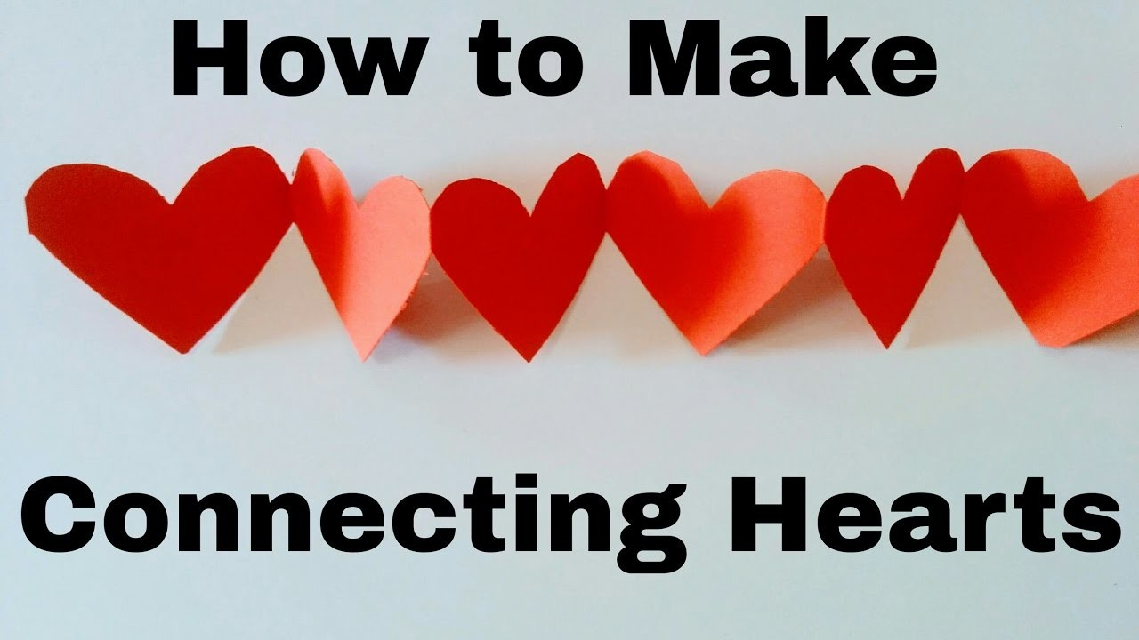 How to Make Connecting Hearts | for Scrapbook| DIY