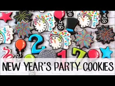 How To Make Decorated Party Cookies for New Year's Eve