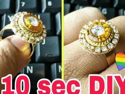 How to make Designer ring in 10 secs! Diy Instant Designer Ring|Party wear