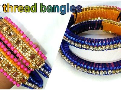 How to Make Designer Silk thread Bangles||Innovative ideas. !!