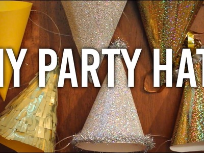 How to Make Party Hats : DIY : Perfect for NYE! Happy New Years!