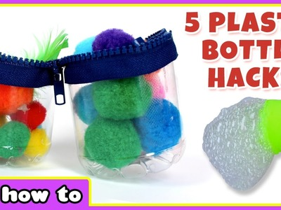 Life Hacks | 5 Plastic Bottle Hacks by HooplaKidz How To