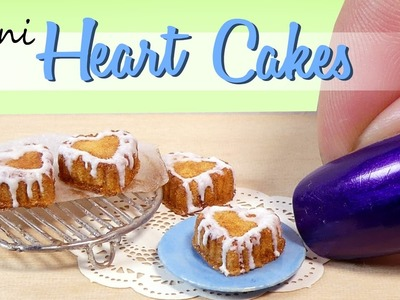 Miniature Heart Cakes & Cooling Rack. DIY Miniature Food. SugarCharmShop