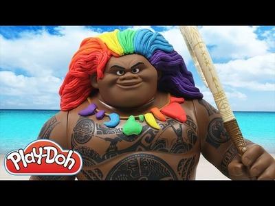 Play Doh Rainbow Hair Maui Disney Moana Play-Doh Craft N Toys