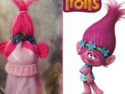 Polly Troll crochet. knit hat