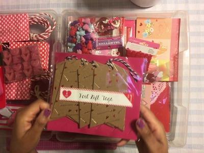 Valentine  - Revisiting & Using Up My Old Scrapbook Stash - Scrap Your Scraps