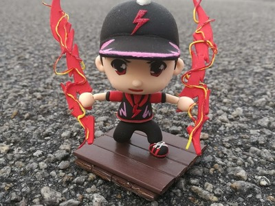 Boboiboy  air dry clay sculpture figure polymer clay