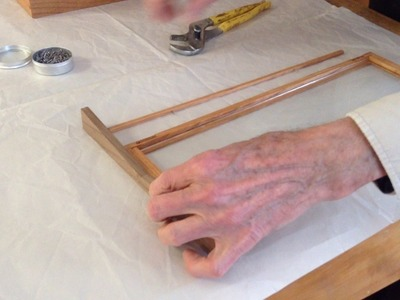 CHB explains: how to secure glass in a frame without using a hammer