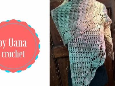 Crochet leaf shawl- by Oana
