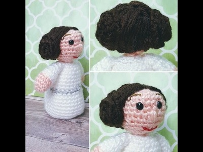 Crochet Princess Leia inspired Ami Doll  Video 3
