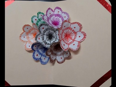 DIY 3D flower POP UP card || Easy And Simple Step By Step