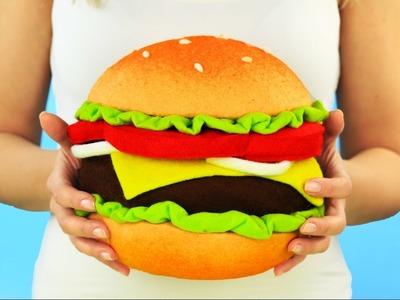 DIY Cheeseburger Pillow