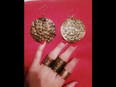 DIY #recycled soda can earring, # How to make earring from soda can, easy.