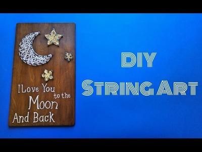 Easy DIY String Art - Crafts n' Creations - طريقة بسيطة لفن الرسم بالخيوط