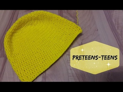 How to crochet a hat for preteens & teens? | !Crochet!